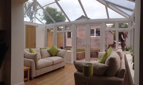 Moder contemporary conservatory