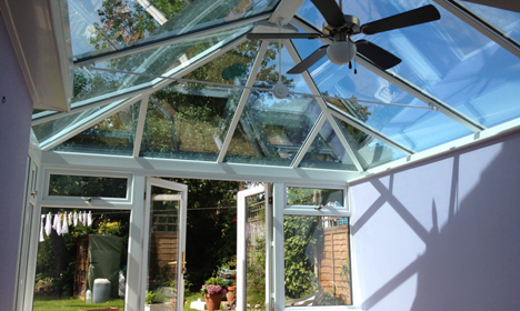 Replacement roof conservatory