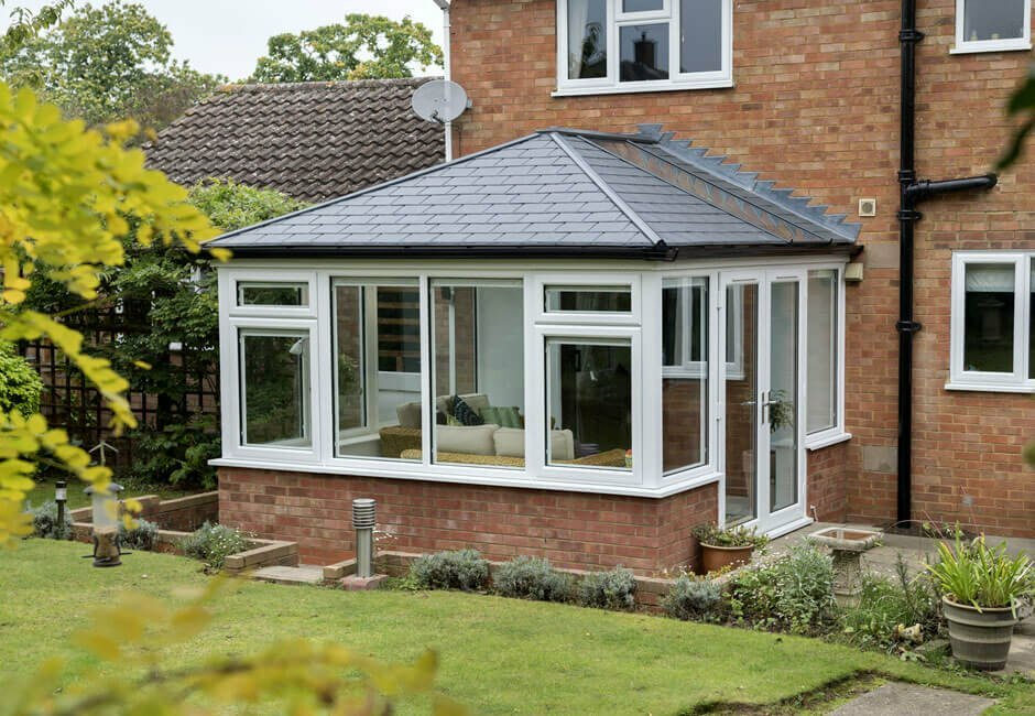 Replacement solid roof conservatory