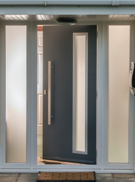 Aluminium front door by the conservatory and window company