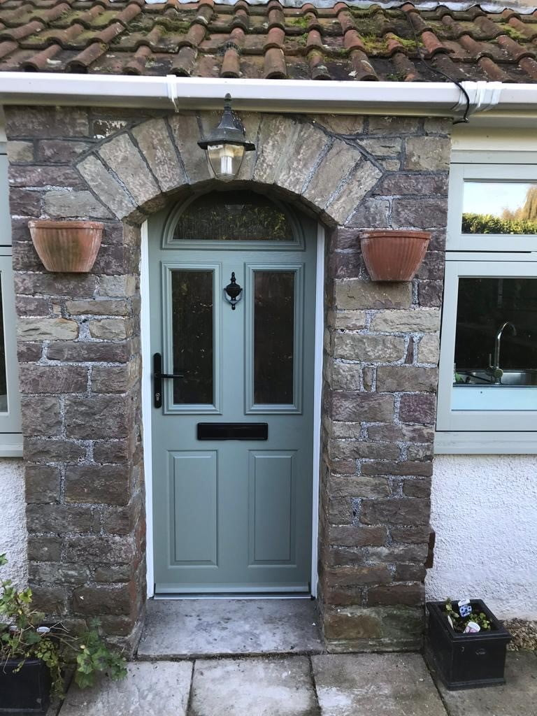 Composite and PVC front doors